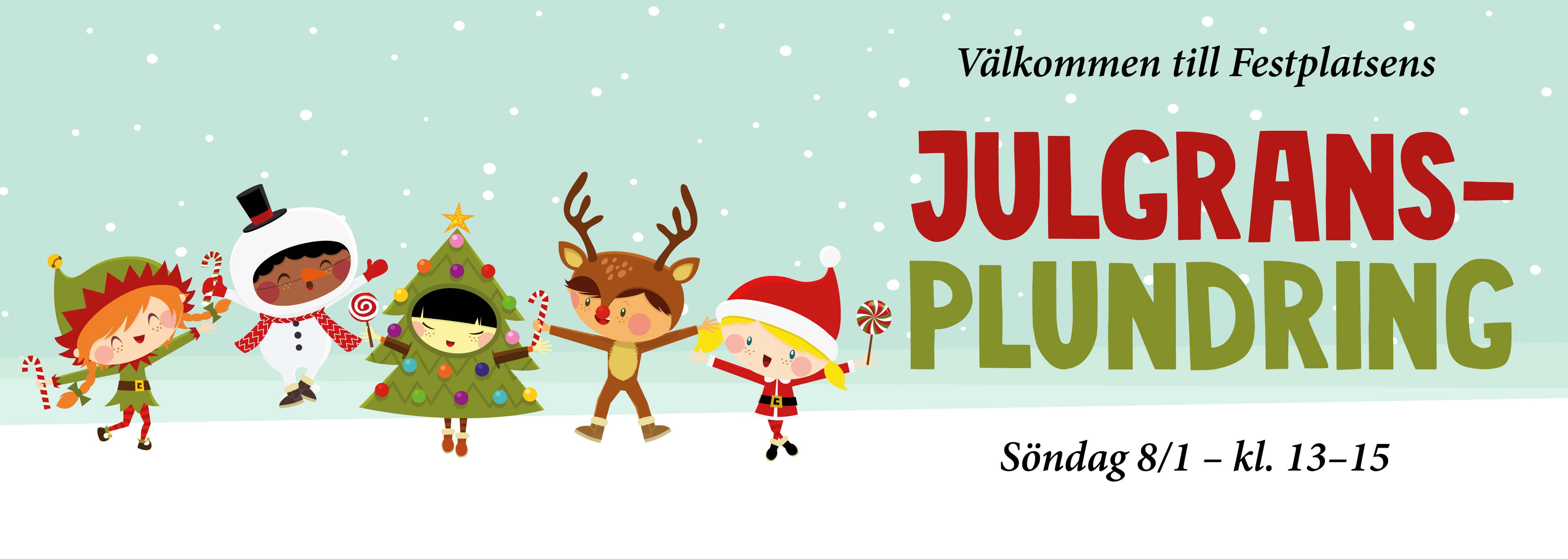Festplatsen julgransplundring 2017